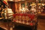 Kristallgläser für hochprozentige Getränke zum Dinner