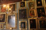 Baroque paintings in the billiard room