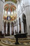 Main altar of Almudena Cathedral