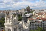 View over Madrid from the top of Cybele Palace (Palacio de Cibeles)