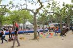 Zelte und Kinderspielplatz auf den 12. Darmstädter Jugendstiltagen der Mathildenhöhe
