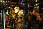 Display with several android models from the various Star Wars movies
