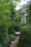 Garten rund um das Haus Dielenbach, entworfen vom Architekten Jan Hubert Pinand