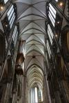 The inner height of the gothic nave of Cologne Cathedral is 43.35 m (142.2 ft)