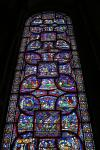 Stained medieval windows of Trinity Chapel in Canterbury Cathedral