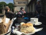 Cream Tea with fruit scones on the terrace of the Royal Pavilion