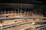 About half of the Mary Rose ship survived the centuries on the bottom of the sea. It is now being restored and preserved to make sure that the wood is not decaying.