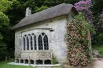 Gothic cottage in the Stourhead Gardens