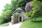 Die gotische Hütte in den Gärten von Stourhead