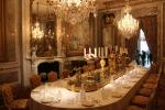 Opulent baroque dining room on the ground floor of Waddesdon Manor House