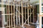 The library on the ground floor of Hughenden Manor. Seems it suffered from some water damage.