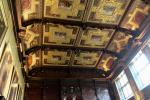 Marble Hall built in 1611 is the great hall of Hatfield House. Much of walls and ceilings are covered with oak carvings by John Bucke.