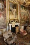 First State Room in the enfilade of rooms west of the dining hall of Blenheim Palace. The portrait above the fireplace shows Consuelo Vanderbilt, the American first wife of the 9th Duke of Marlborough. The dowry from the marriage helped to restore much of the palace.