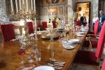 Dining table in the Great Saloon of Blenheim Palace