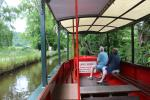 Horse drawn canal boat on Llangollen Canal