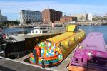 Yellow Submarine anchored next to the Albert Dock