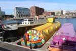 Yellow Submarine anchored next to the Albert Dock