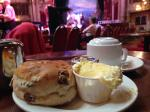 Cream Tea in next to the dance floor of the Blackpool Tower Ballroom
