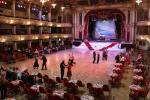The Blackpool Tower Ballroom - the glitter and gold baroque ball room under the replica of the Eiffel Tower