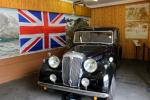 Royal limousine shown in the garage of Balmoral Castle