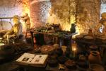 Reconstructed scene in the Great Kitchens of Stirling Castle