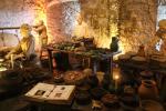 Rekonstruierte Szene in den Großen Küchen des Stirling Castle