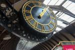 Large clock in York main train station