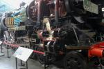 National Railway Museum (NRM): Ellerman Lines (1949) sectioned steam locomotive no. 35029 with its large cylinders.
