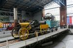 National Railway Museum (NRM): Reconstruction of Rocket, the first steam engine