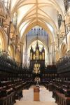 The wooden St Hugh's Choir of Lincoln Cathedral