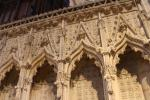 Details of the delicate stone choir screen of Lincoln Cathedral built in the 1330s