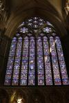 Stained glass window of Lincoln Cathedral