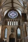 Windows in the transept of Lincoln Cathedral
