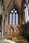Statue of virgin Mary in the southeastern transept of Lincoln Cathedral