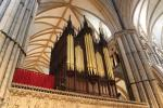 Organ on the choir screen of Lincoln Cathedral