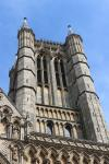 One of the two towers of Lincoln Cathedral
