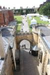 The large courtyard of Lincoln Castle