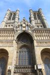 Main facade and the two towers of Lincoln Cathedral