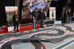 Carrera slot car race track on the International Motor Show in 2015