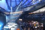 Mercedes stand in the concert hall Festhalle Frankfurt