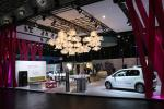 Deutsche Telekom stand in the New Mobility World exhibition hall was quite empty