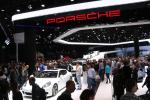 Porsche stand on the motor show