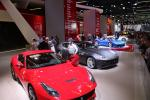 Ferrari stand on the motor show
