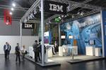 IBM stand in the New Mobility World exhibition hall was quite empty