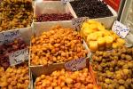 All kinds of dried fruits sold in Tehran Bazaar
