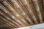 Painted ceiling in the Ghavam Garden pavilion