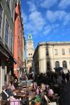 Gamla Stan: View from Stortorget square to Storkyrkan (Great Church)