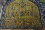 Colorful ornamentation in the Masjed-e Shah (Shah Mosque) of Isfahan