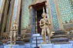 Two Gold Chedis in the Temple of the Emerald Buddha (Wat Phra Kaew)