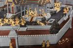 Die Galerien (Phra Rabieng) umgeben wie ein Kreuzgang den gesamten Tempelbezirk. Auf den Wänden ist das Ramakien dargestellt, das große hinduistische Epos über den Gotthelden Rama und seinen Sieg über das Böse.